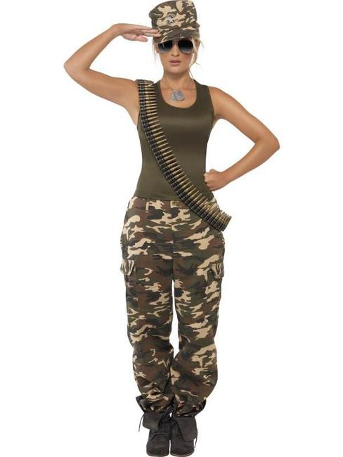 Khaki Camo Costume, , UK Dress 16-18