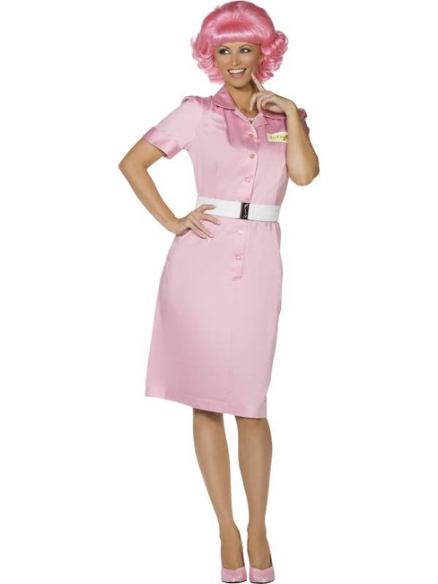 Frenchy Costume Beauty School Drop Out Costume, UK Dress 12-14