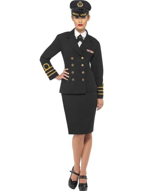 Navy Officer Costume, , UK Dress 8-10