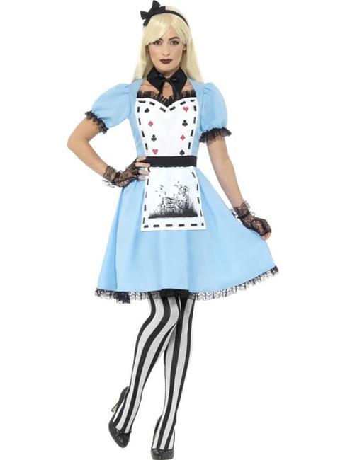 Deluxe Dark Tea Party Costume,with Dress,Fairies, Fancy Dress,UK Size 4-6