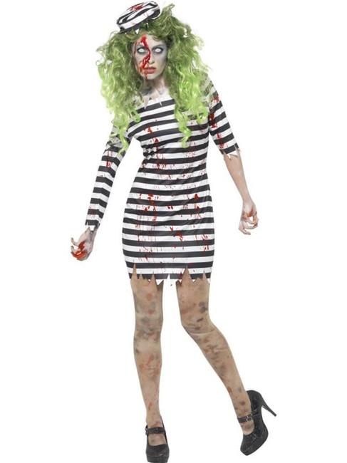 Zombie Jail Bird Costume, XL, Halloween Fancy Dress, Womens, UK 20-22