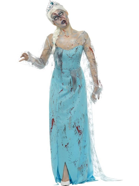 Froze to Death Zombie Costume,Halloween Zombie Fancy Dress,UK Size 12-14