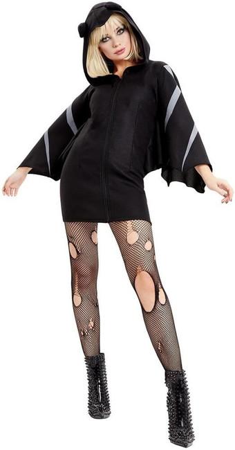 Bat Costume, Womens Halloween Fancy Dress, UK Size 16-18