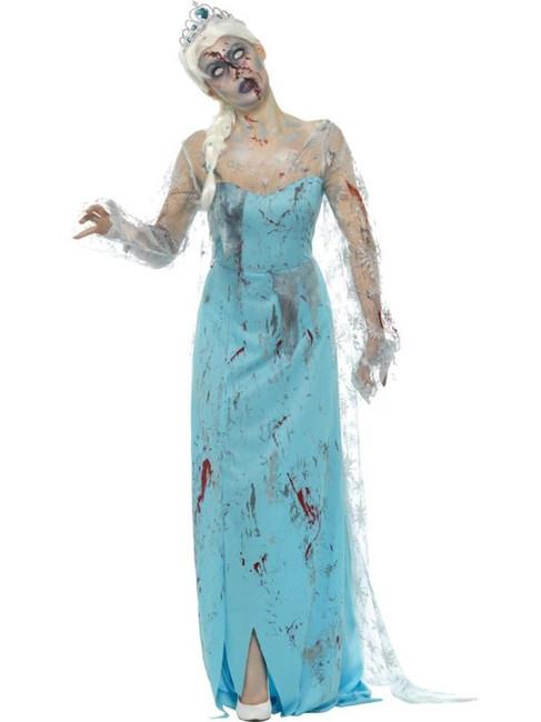 Froze to Death Zombie Costume,Halloween Zombie Alley Fancy Dress,UK Size 4-6