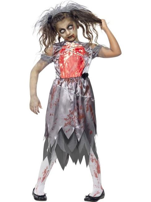 Zombie Bride Costume, Teen