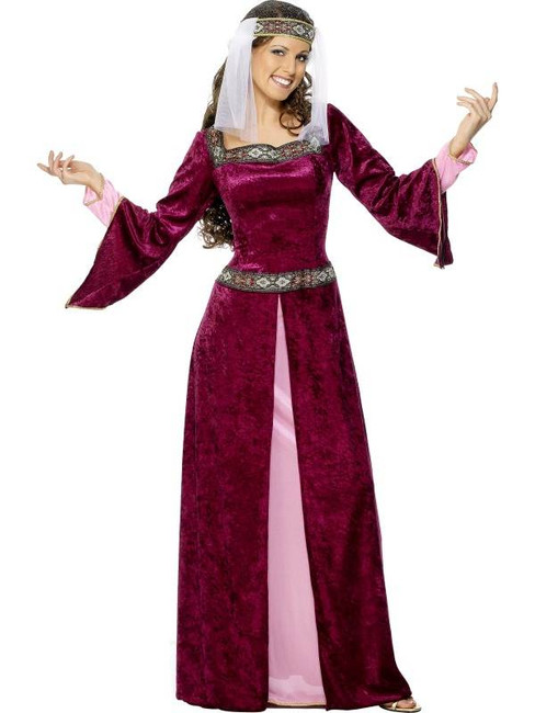 Maid Marion Costume, UK Dress 12-14