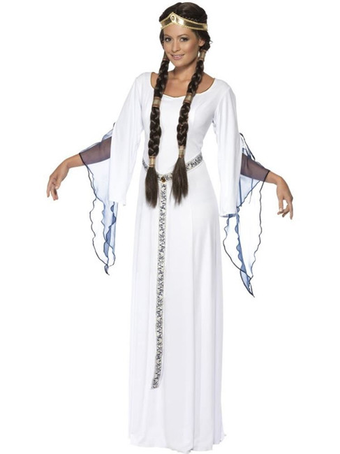 Medieval Maid Costume, Large, Historical Fancy Dress, Womens, UK 16-18
