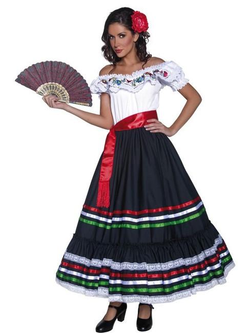 Authentic Western Sexy Senorita Costume, UK Dress 16-18