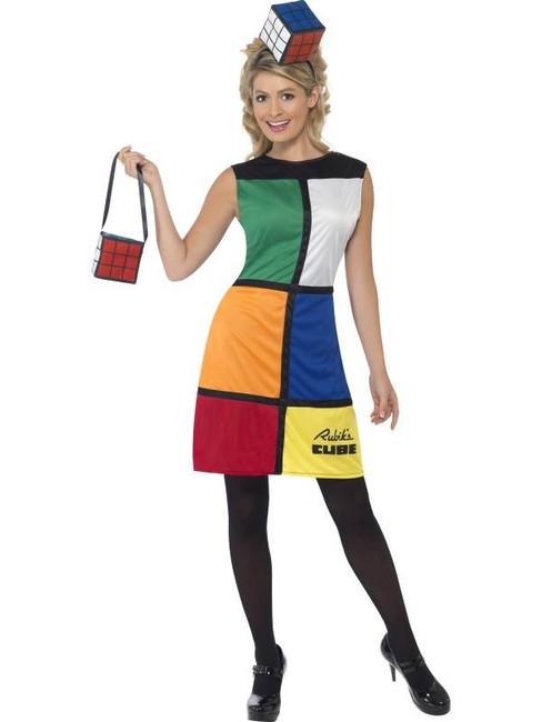 Rubik's Cube Costume  Heanband, UK Dress 8-10