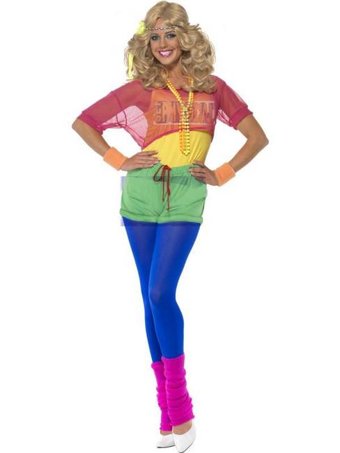 Let's Get Physical Girl Costume, UK Dress 12-14