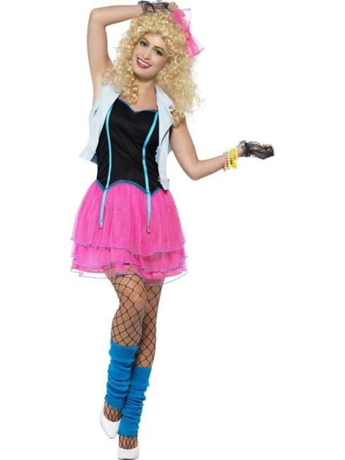 80's Wild Girl Costume, Small, Fancy Dress, Womens, UK 8-10