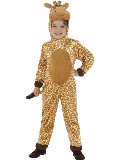 Brown Giraffe Costume, Children's Animal Fancy Dress., Small