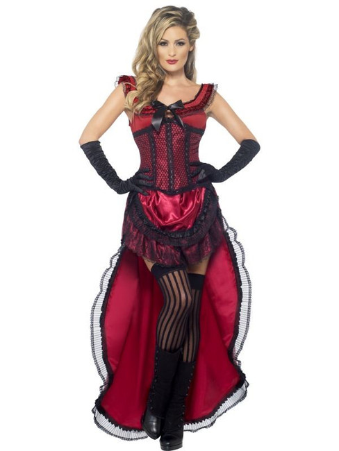 Western Authentic Brothel Babe Costume, UK Dress 12-14