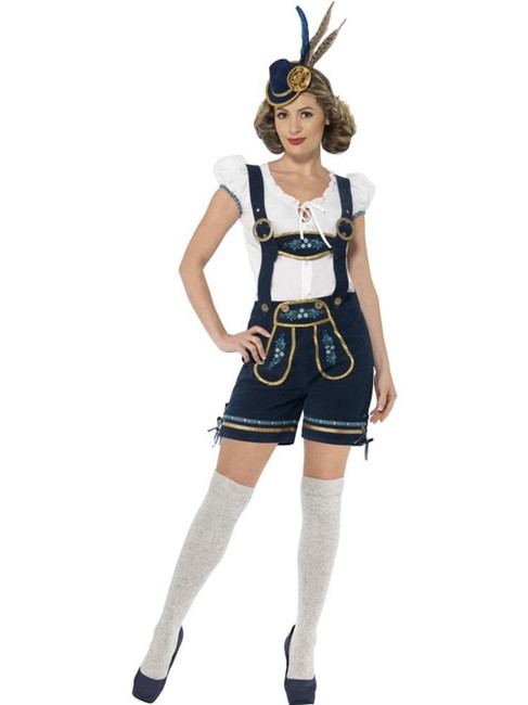 Deluxe Bavarian Costume, Small, Oktoberfest German Fancy Dress, UK 8-10