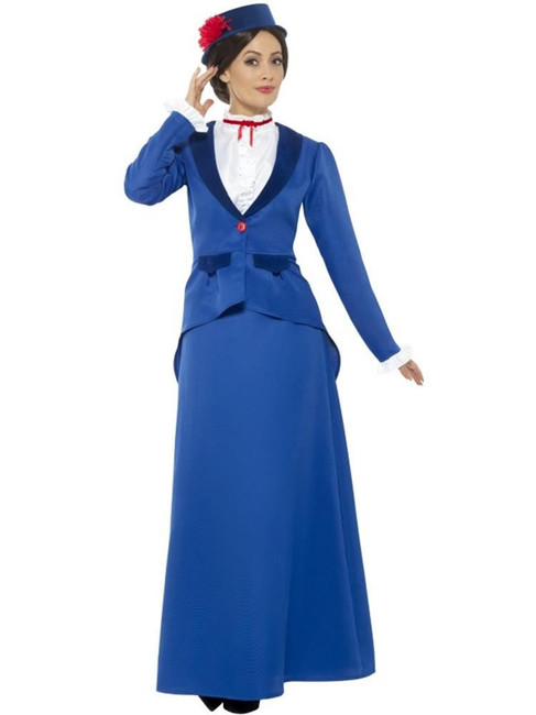 Victorian Nanny Costume,Fairies,Wings and Wands Fancy Dress. UK Size 24-26