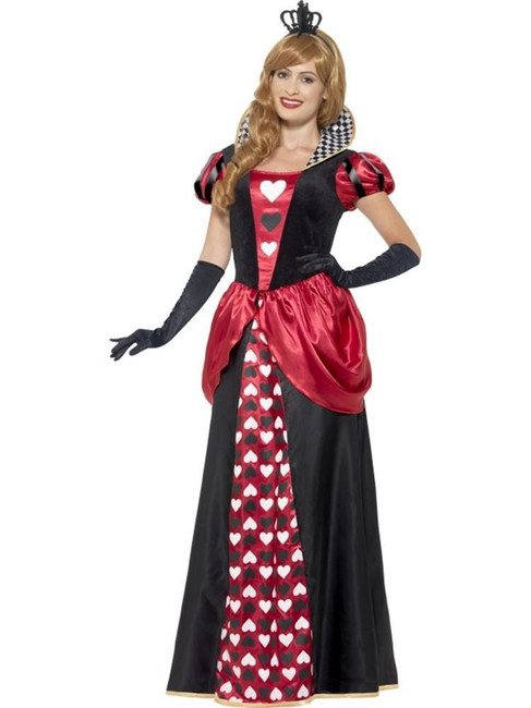 Royal Red Queen Costume, Large, Queen of Hearts Fancy Dress, Womens,UK 16-18