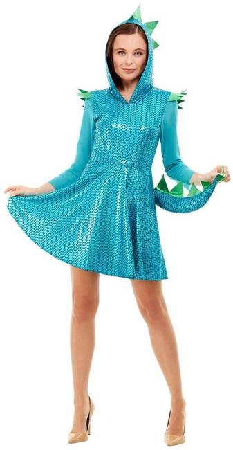 Dragon Costume, Womens Fancy Dress, UK Size 4-6