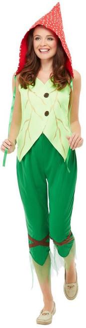 Toadstool Pixie Costume, Womens Fancy Dress, UK Size 8-10
