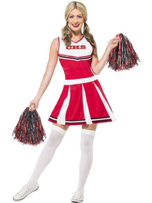 Cheerleader Costume, Red Medium