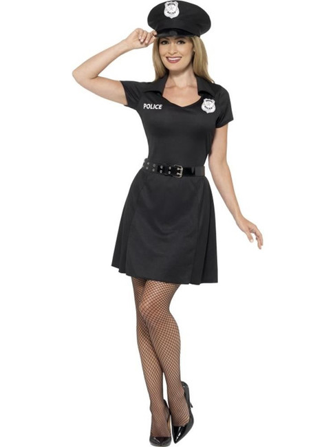 Special Constable Costume, Large, Policewoman Fancy Dress, Womens, UK 16-18