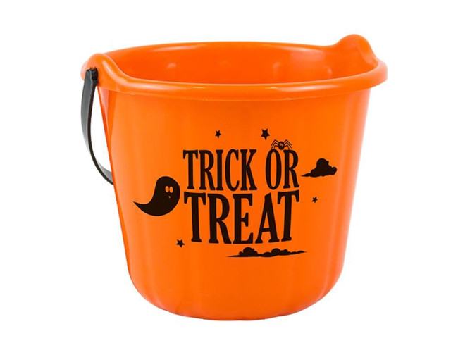 Halloween Trick Or Treat Bucket, Orange
