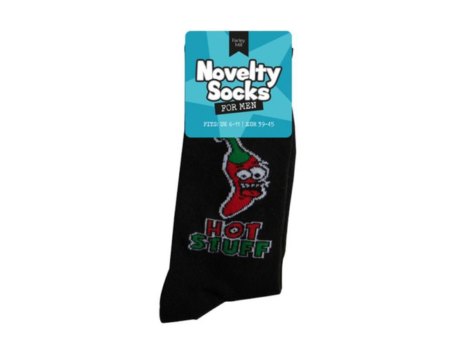 Mens Novelty Socks, Hot Stuff