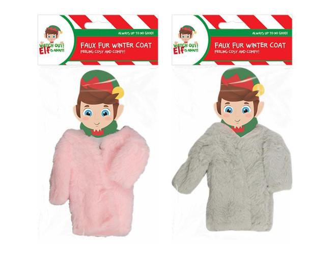 Elf Faux Fur Winter Coat, 2 Pack