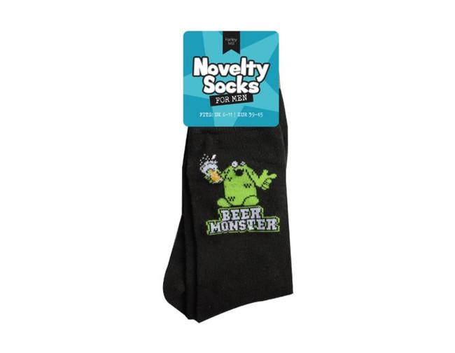 Mens Novelty Socks, Beer Monster