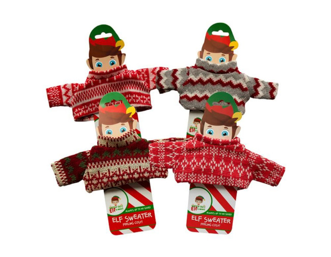 Elf Knitted Sweater, 4 Pack