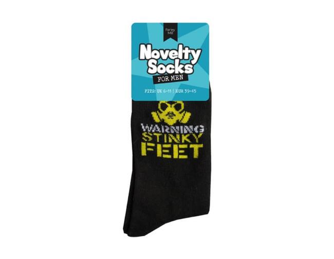 Mens Novelty Socks, Warning Stink Feet