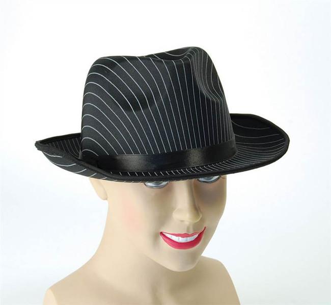 Gangster Hat. Pin Stripe.