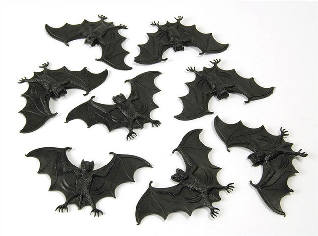 Pack Of 8 Bats For Halloween.