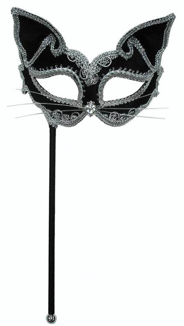 Cat Mask On Stick.