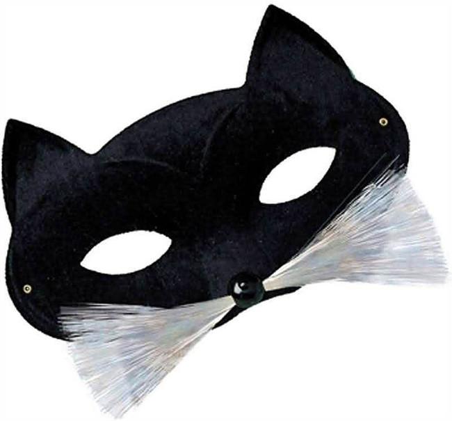 Cat Domino Eye Mask. Black.