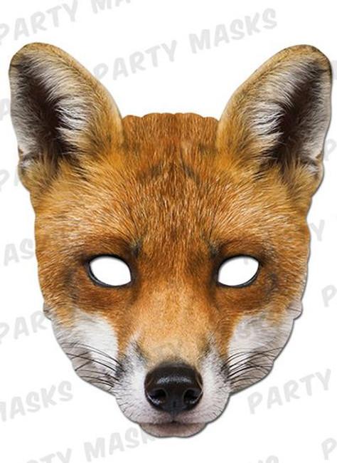 Fox Animal Face Card Mask