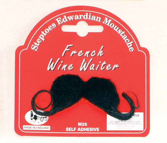 French Wine Waiter Moustache.