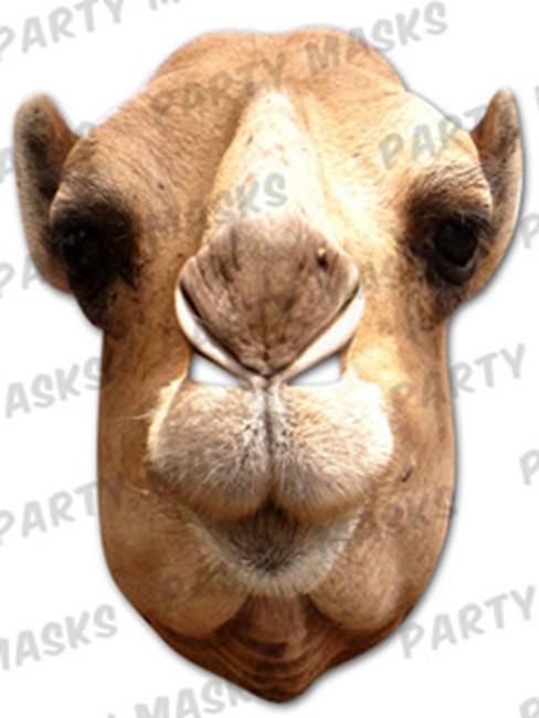 Camel Animal Face Card Mask