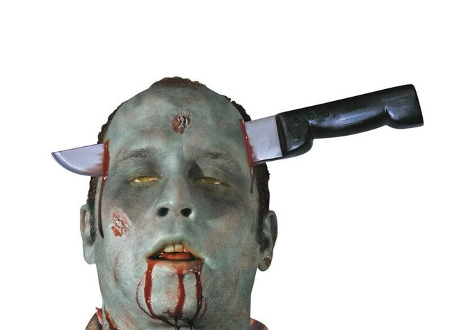 Zombie Knife Thro Head.