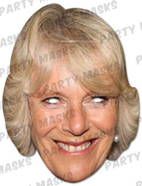 Camilla-Parker Bowles Celebrity Face Card Mask