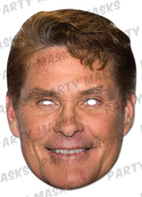 David Hasselhoff Celebrity Face Card Mask