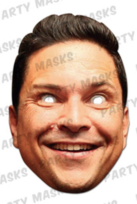 Dom Joly Celebrity Face Card Mask
