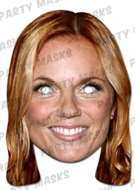 Geri Halliwell Celebrity Face Card Mask