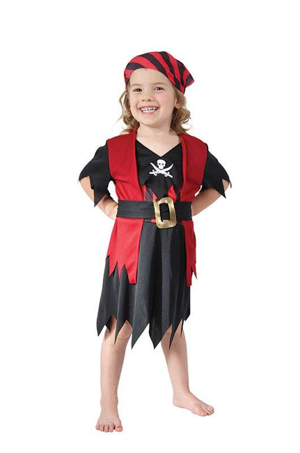 Pirate Girl Toddler, 90-104cm.