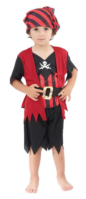 PIRATES MATE COSTUME, PIRATE BOYS/GIRLS/UNISEX FANCY DRESS TODDLER AGE 2-3