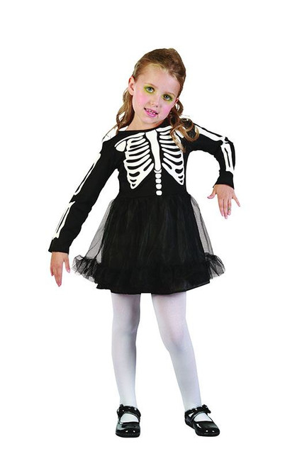 Skelton Girl Toddler Costume.  90-104cm.