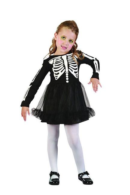 Skelton Girl Toddler Costume.  90-104cm.