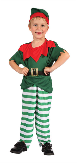 Santa Helper Boy Toddler, Childrens Fancy Dress Costume