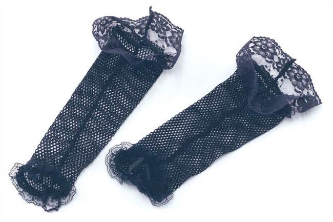 Fishnet Gloves. Black&Lace.