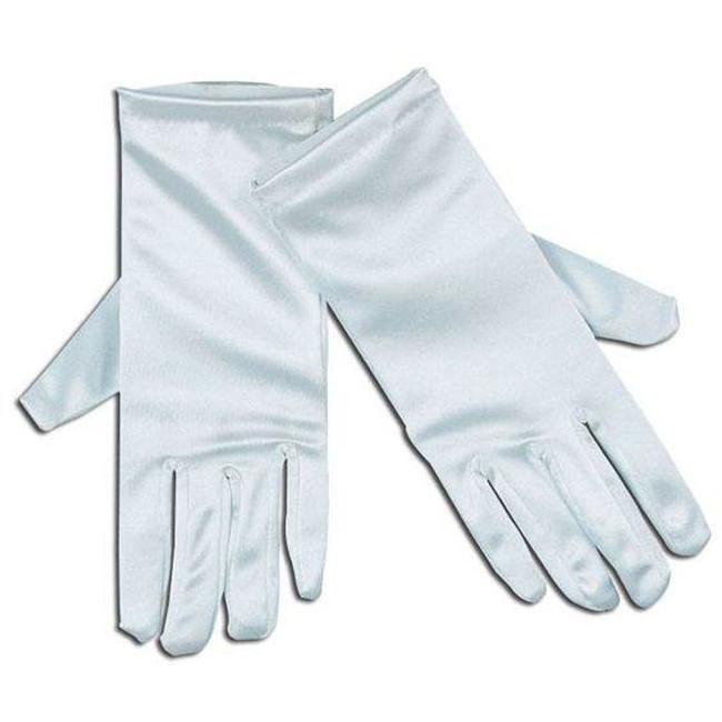 """Gloves. Satin 9"""" White ."""