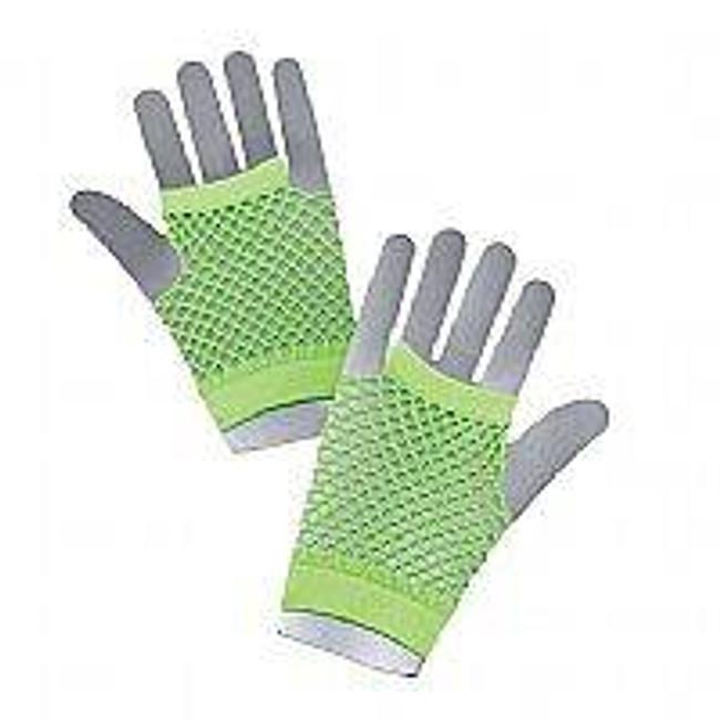 Fishnet Gloves Short Green.